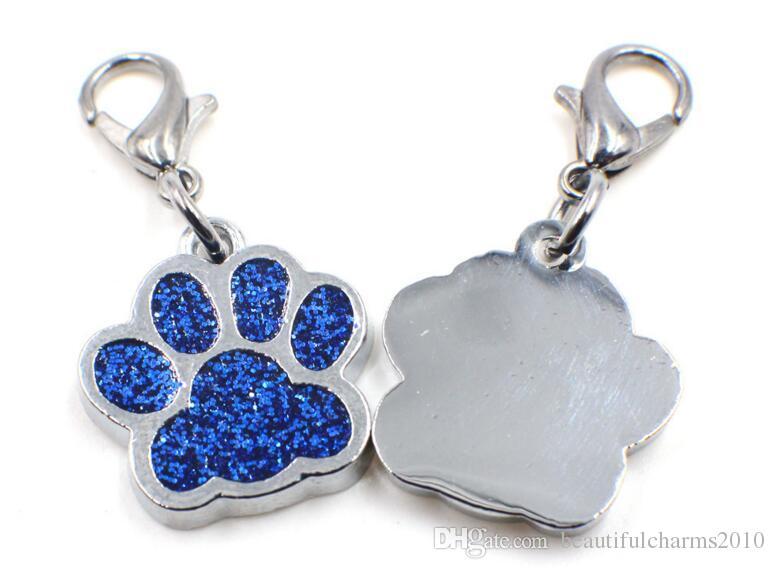 / Bling Hund Bärentatze Fußabdruck mit Hummer-Haken-DIY hängen hängenden Charme für Schlüsselanhänger Halskette Beutelherstellung passen