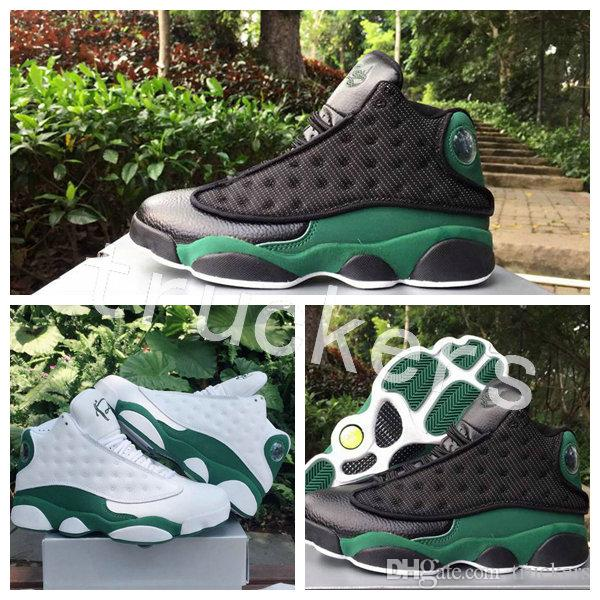 competitive price 1818b 09e62 2018 New 13 Ray Allen Pe Men Basketball Shoes High Quality 13s XIII Balck  Green White Green Mens Trainers Sports Sneakers Size 40 47 Sneakers Shoes  Shoes ...
