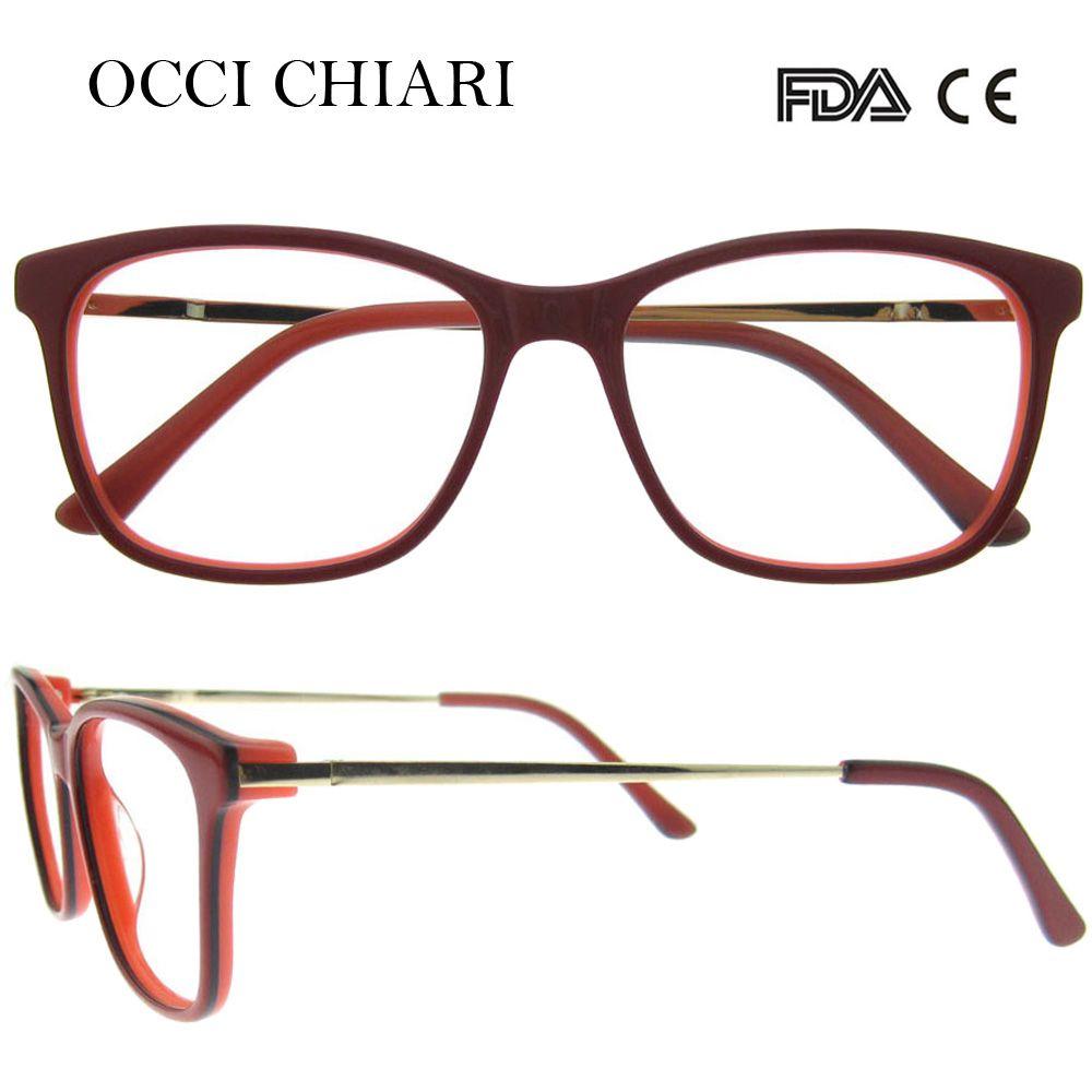 Compre OCCI CHIARI 2018 Moda Design De Moda Acetato De Óculos Ópticos  Quadros Mulheres Com Lente Clara Óculos Óculos W CARLEO De Ancient88, ... ceeb03d045