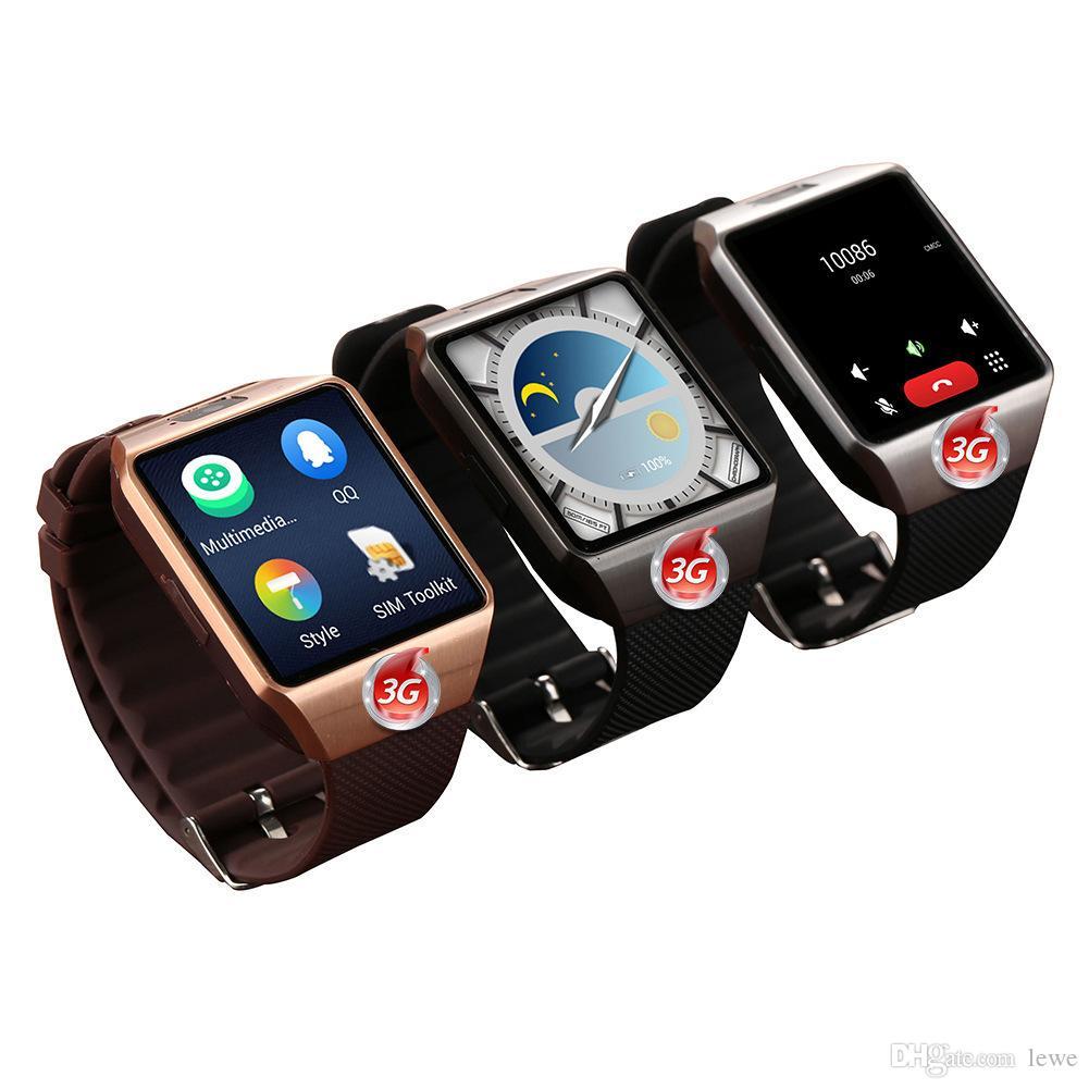 8aaa06697ed Compre Marca Novo Relógio Inteligente Android Smartwatch GPS WIFI 3G GSM    WCDMA Cartão SIM Relógio Do Telefone 1.54  LCD 512 MB + 4 GB MT6572A  Bluetooth ...