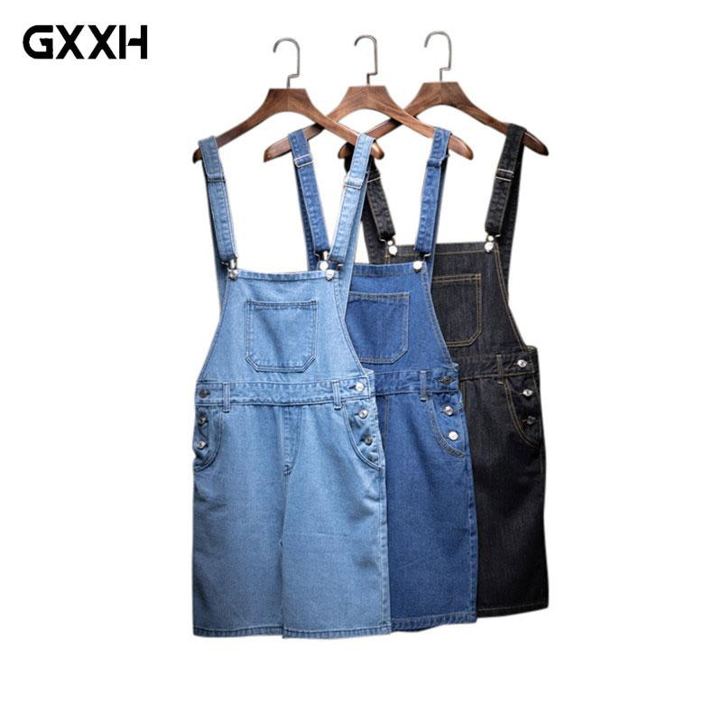 bd0ff10498 2019 Men S Cotton Jeans Shorts 2018 New Casual Men Bib Overalls Short  Summer Fashion Male Slim Shorts Jean Man Denim Jumpsuit Jean From Alfreld