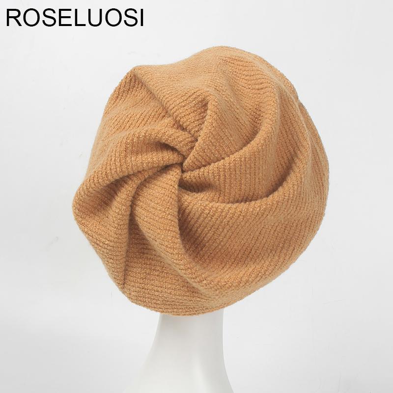 Großhandel Roseluosi Frauen Herbst Winter Hut Casual Einfarbig ...