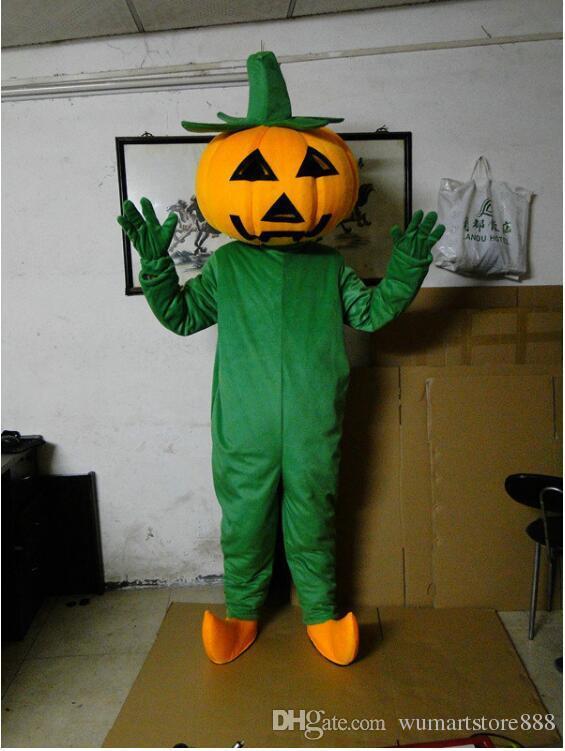 Zucche Di Halloween Cartoni Animati.Acquista Costumi Della Mascotte Degli Uomini Della Zucca Di