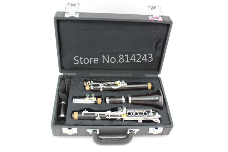 Strumenti professionali a fiato che cadono melodia a 17 tasti strumenti musicali placcati argento clarino con custodia Spedizione gratuita