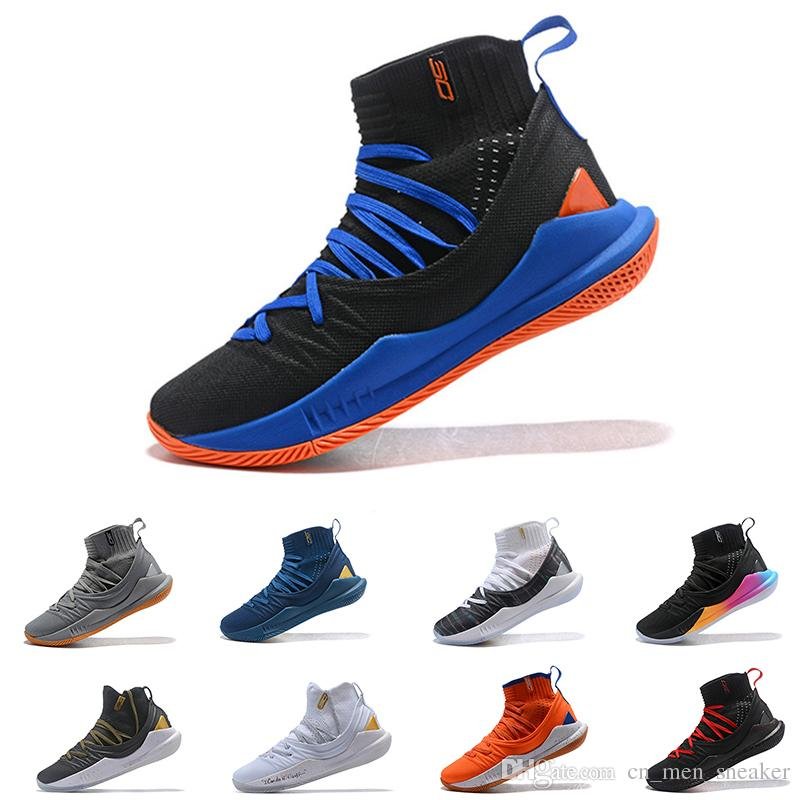 2019 Top Quality Stephen Curry 5 High Cut Basketball Shoes Stephen