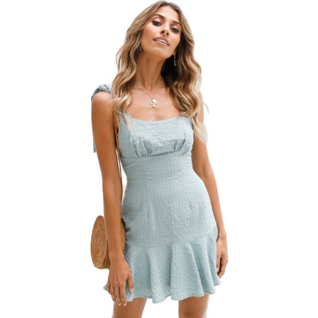 6684dc389d Compre Afrodite Casa Sweet Girl Summer Dress Bow Ruffles Xadrez ...