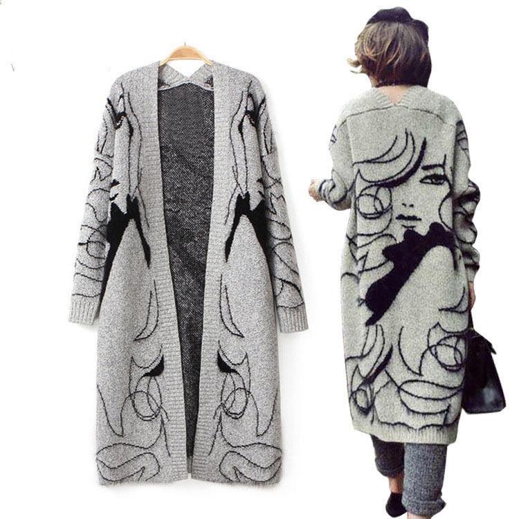huge selection of 885e7 655ca Großhandel Winter Verdicken Graue Mode Handbemalte Frauen ...