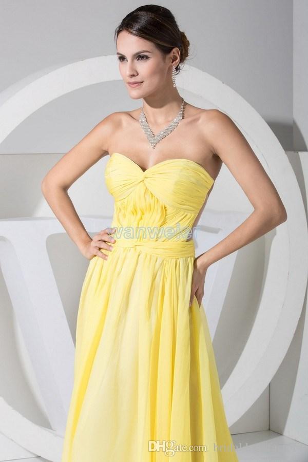 trasporto libero caldo nuovo design abiti da sera formales abiti da sera corpo con vestito giallo colore personalizzato / formato donne abito da sera