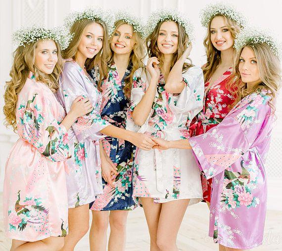 2019 Sexy Bride Bridesmaid Wedding Dressing Robe Gray Lady Kimono Bath Gown  Large Size XXXL Sleepwear Floral Nightgown Party Gift From Wqasysos 3d741e57deb4