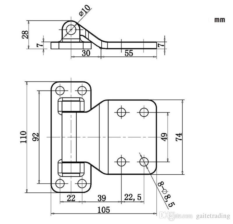 Serbatoio di stoccaggio pesante Magazzino industriale del forno a cerniera Parte refrigerata della porta della macchina del camion Cerniera del vano di carico