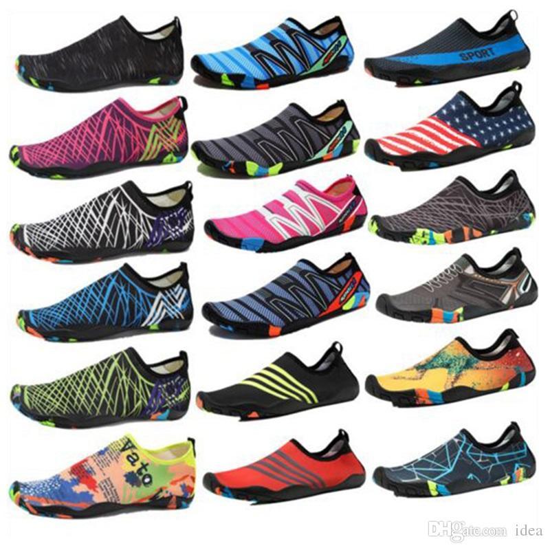 fdd0d7c85d22 33 Styles Diving Beach Mesh Shoes Non-Slip Slip-on Barefoot Water ...