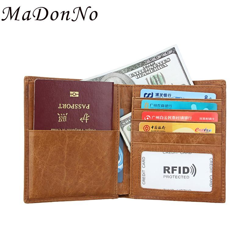 Genuine leather passport cover case id business card holder travel genuine leather passport cover case id business card holder travel credit wallet for men purse case driving license bag thin flat wallet awesome wallets colourmoves