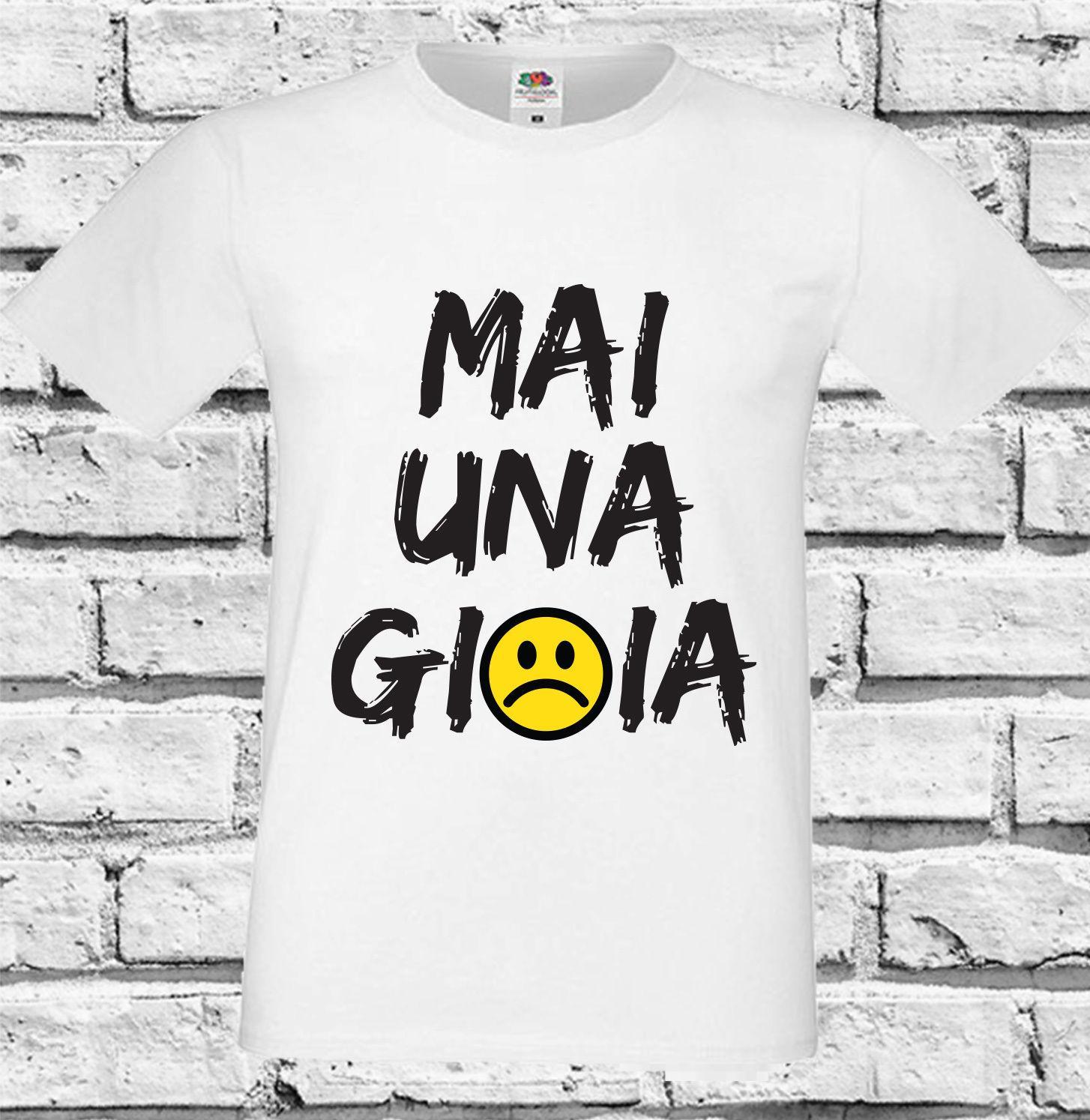 Women s Tee T-shirt Mai A Gioia New Men s T-shirt Woman Boy Girl ... 81b87787a97d