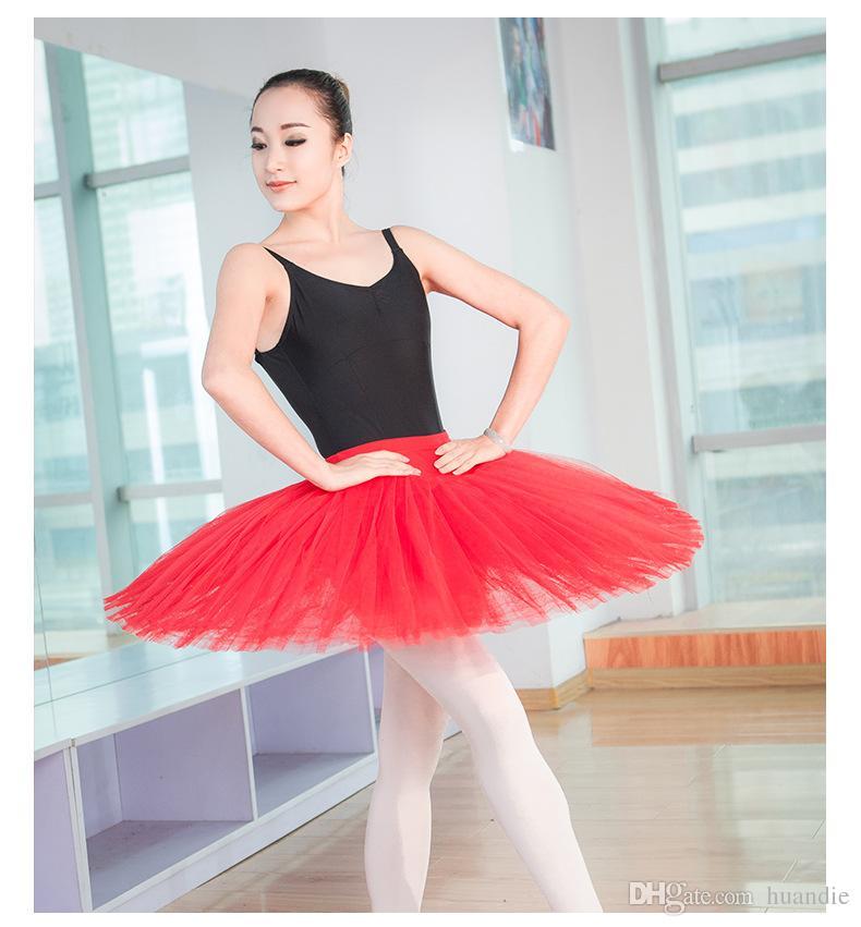 Beyaz siyah kırmızı için profesyonel 8 katmanlar bale tutu etek eğitim Bellerina etek bale dans sınıfı için