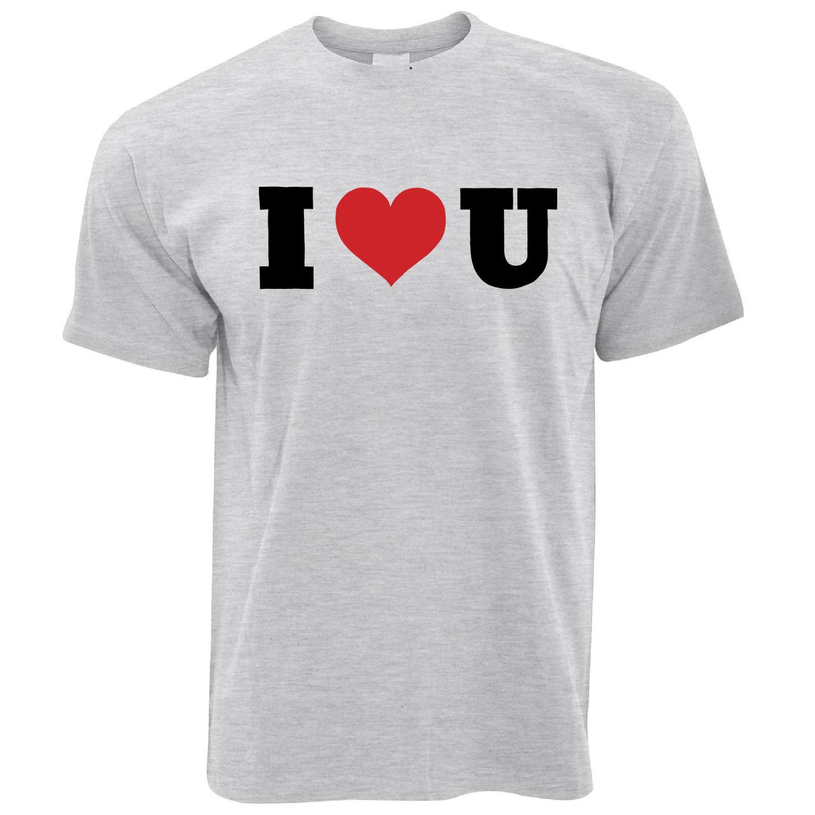 98767e9e8e9 Compre Detalles Zu I Heart U Camiseta Para Hombre Día Especial San Valentín  Relación Parejas Lema Divertido Envío Gratis Unisex Casual Camiseta De  Regalo A ...
