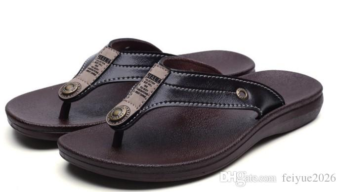 ab555c625 Hot Sell Flip Flops Sandals Men Casual Sandals Lazy Person Outdoor Flip  Flops Beach Shoes Flat Shoes Feiyue2026 Fringe Sandals Silver Wedges From  Feiyue2026 ...