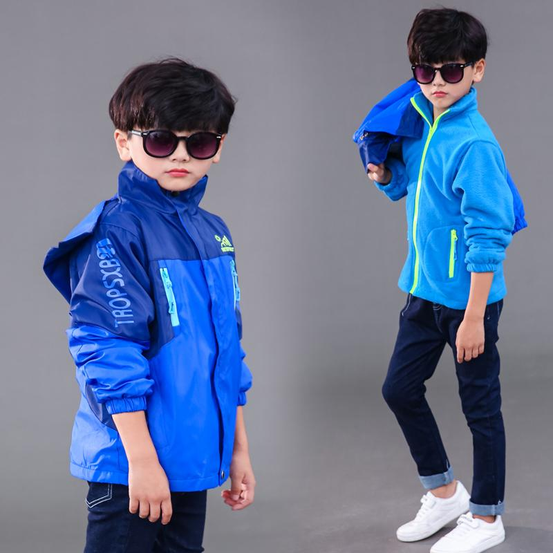 3c8d9657b83d8 2018 autumn kids fashion hooded jackets boys outdoor coat casual  windbreaker teenager boy s warm outerwear clothing