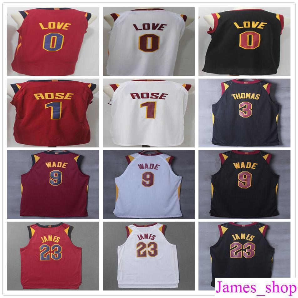 eb7d0c5a1 2017 2018 New Brand  23 Lebron James Jersey Stitched  0 Kevin Love 1 Derrick  Rose 3 Isaiah Thomas 9 Dwyane Wade Basketball Jerseys Lebron James Jersey  Kevin ...
