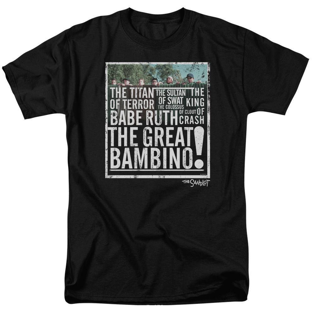 24a59ae3e3f4 2018 Summer T Shirt The Sandlot Movie The Great Bambino Licensed Crew Neck  Regular Short Tee Shirt For Men T Sirt T Shirt Sites From Dhgatec0m4