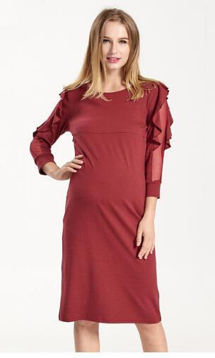543aafe49 Compre BB1 25 2017 Nuevo Traje De Suéter De Algodón Del Abdomen Materno  Ropa De Lactancia Materna Ropa Para Mujeres Embarazadas Pijamas Outwear A   39.9 Del ...
