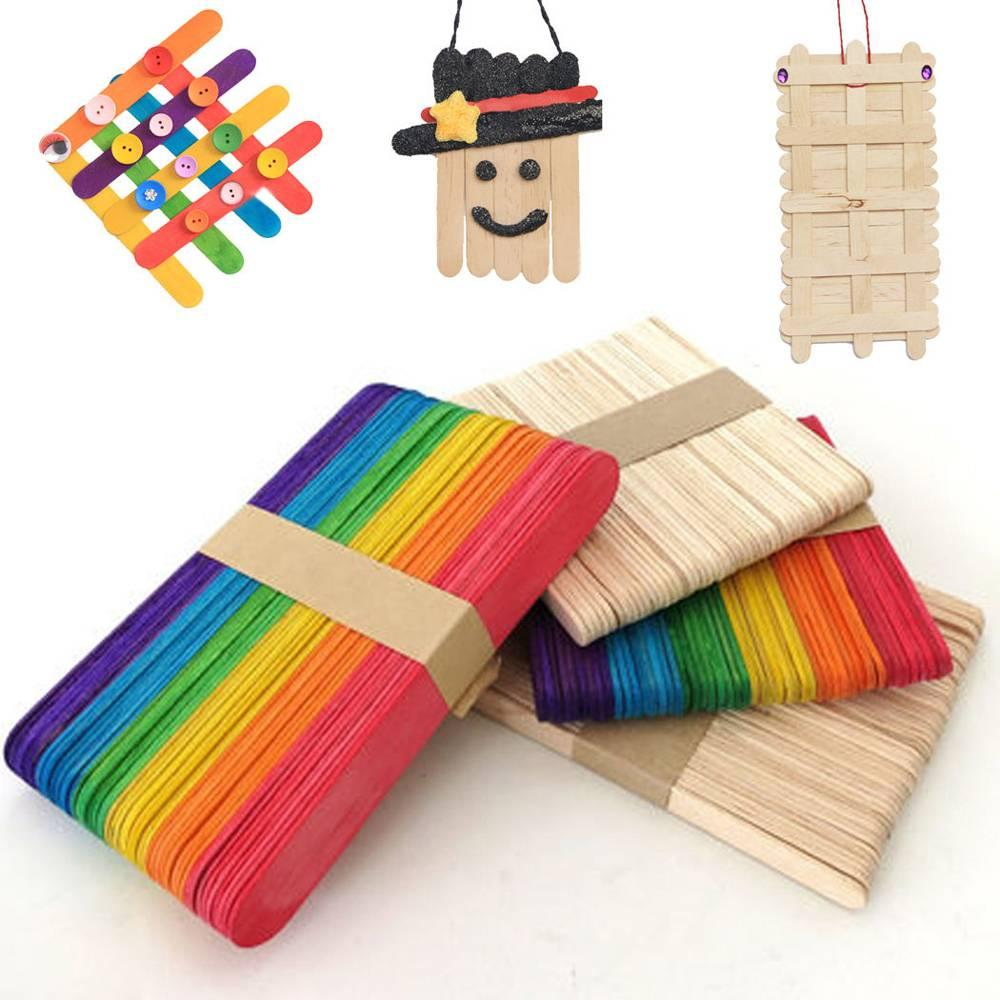 b447806877 2019 Wooden Ice Cream Sticks Popsicle Sticks Kids Hand Crafts Art Ice Cream  Cake Tool DIY Craft Sticks Tongue Depressors From Lvhome09, $2.37 |  DHgate.Com