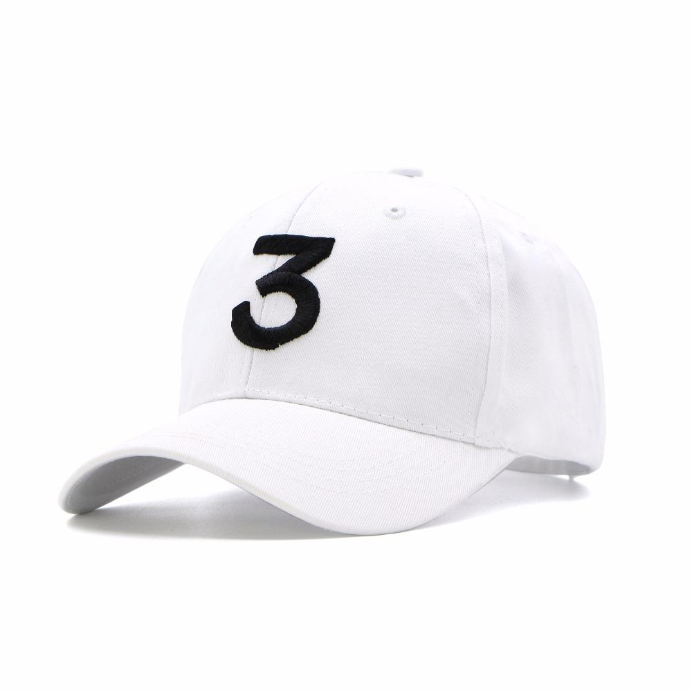8a5e5d7ae2c New Popular Chance The Rapper 3 Hat Cap Black 3D Embroidery Baseball Cap Hip  Hop Streetwear Strapback Snapback Sun Hat 999 Hat Beanies From Hongshaor