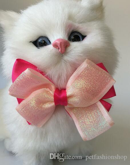 100 pçs / lote grande venda moda cão de estimação filhote de cachorro gato arco laços partido bowknot valentine grooming produtos ly11