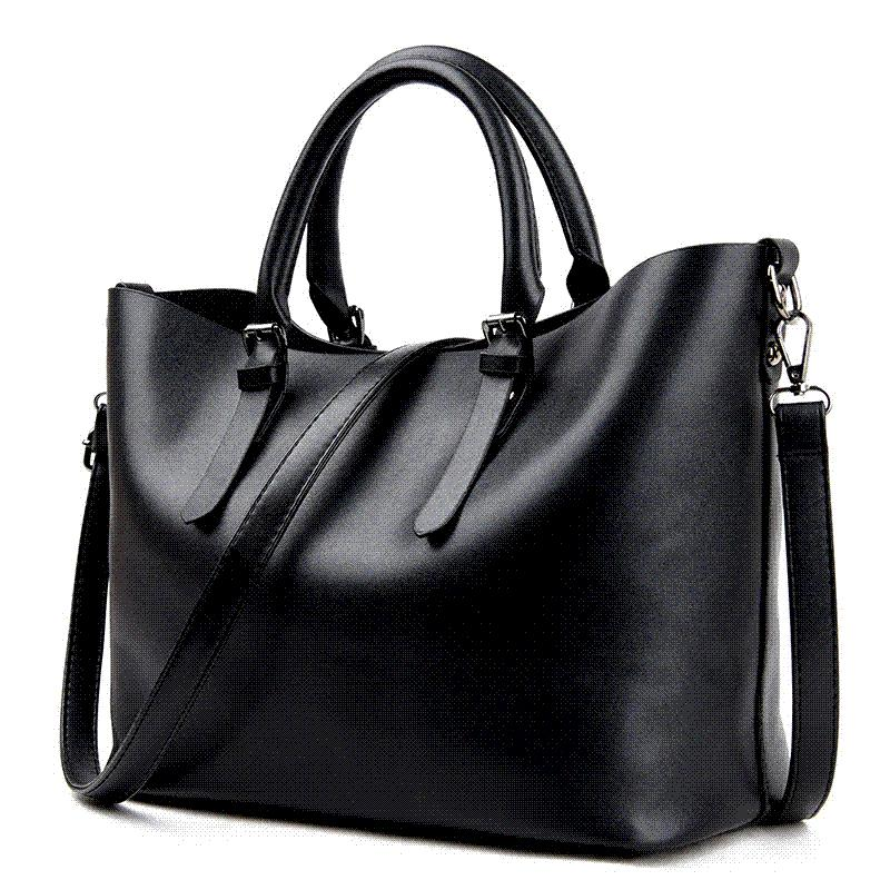 0756cd1052 Bolso Mujer Negro 2018 Fashion Hobos Women Bag Ladies Brand Leather Handbags  Spring Casual Tote Bag Big Shoulder Bags For Woman Weekend Bags For Women  ...