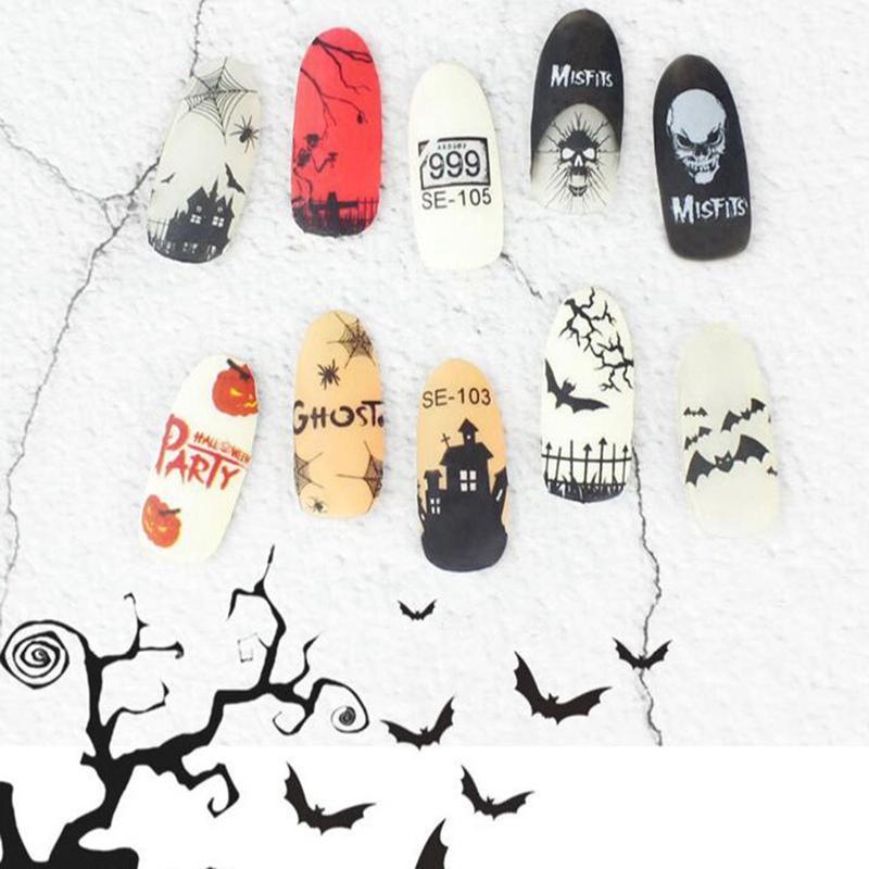 1 Sheet Beauty Halloween Water Transfer Nail Art Stickers Decals