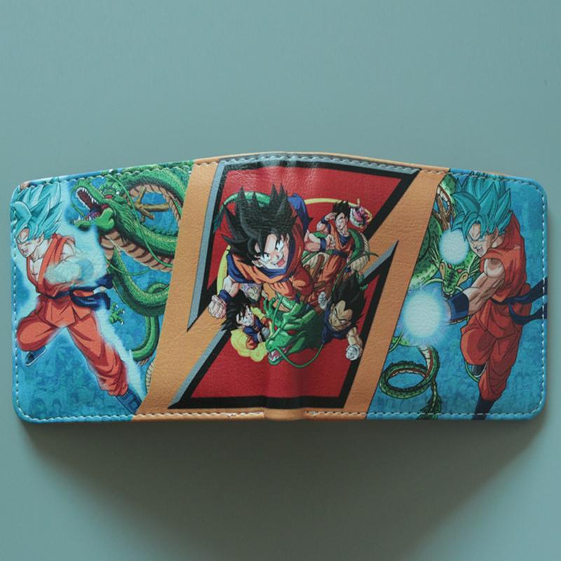 Dragon Ball Monederos Cartera de dibujos animados de Japón Mujeres jóvenes Hombres Comics Monedero de cuero Bolsa de dinero Titular de la tarjeta de crédito Juego Cartera Navidad