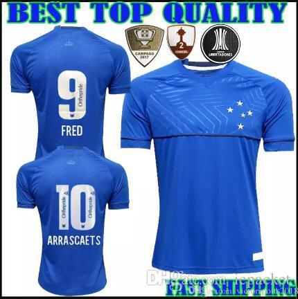 2019 2018 2019 CRUZEIRO Soccer Jersey Home 18 19 DE ARRASCAETA Sassa  ROBINHO THIAGO NEVES Football Shirt Cruzeiro Home Brazilian Club Camisas  From Iepacket a83e8495e3b1a