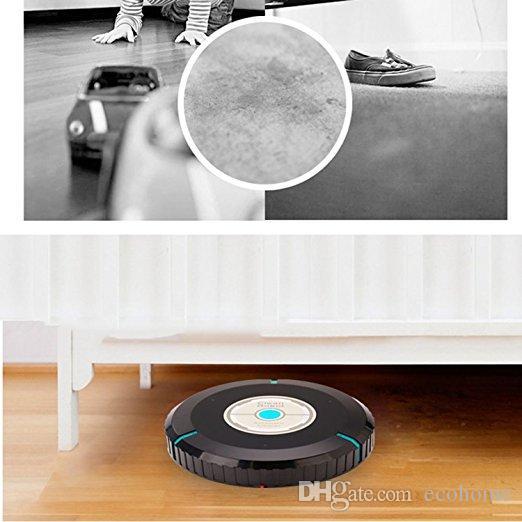Автоочиститель Робот-подметальная машина Умный робот-пылесос Инструмент для уборки дома с микрофиброй Ткань Мех Аллергены Плитка Паркетные полы