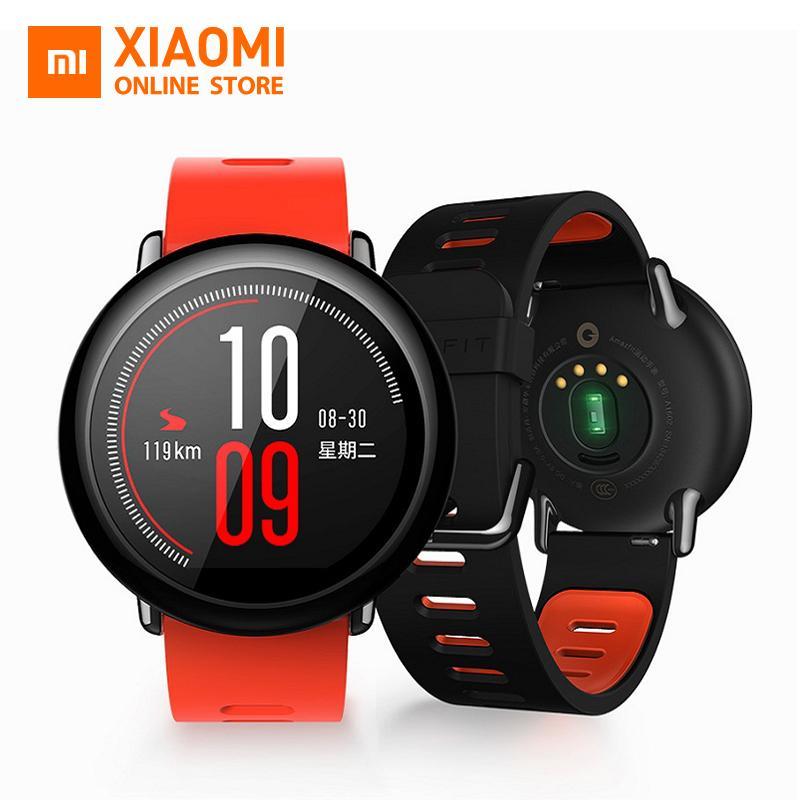 Original Xiaomi Huami Amazfit Strap Smart Watch English Version GPS Sports  Bluetooth 4 0 Wifi MI Heart Rate Monitor Waterproof