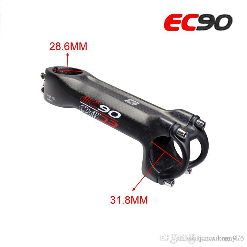 EC90 Full Carbon Fiber MTB Road Bike Stems 6° 28.6mm*31.8mm 70-120mm Bike Stem
