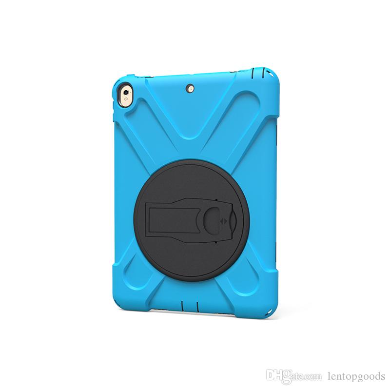 360 Rotating Silicone Hard Back Cover for Apple iPad Pro 10.5 2017 A1701 A1709 Tablet Shockproof Kids Holder Case +Pen
