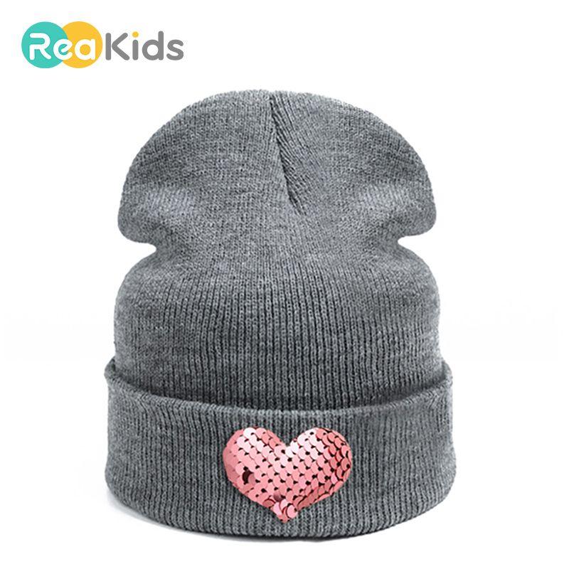 2019 REAKIDS Baby Hat Fashion Skullies Beanies DIY Children Winter ... be53e2e15c00