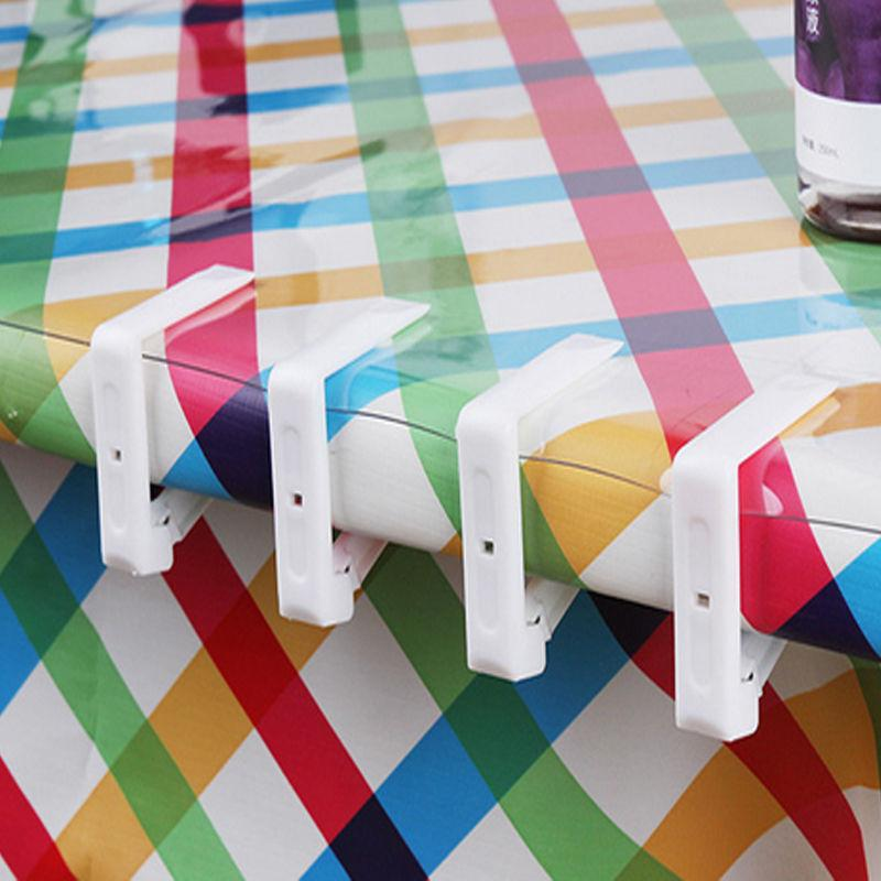 Plastic Table Cover Cloth Stainless Steel Tablecloth Clip Clamp