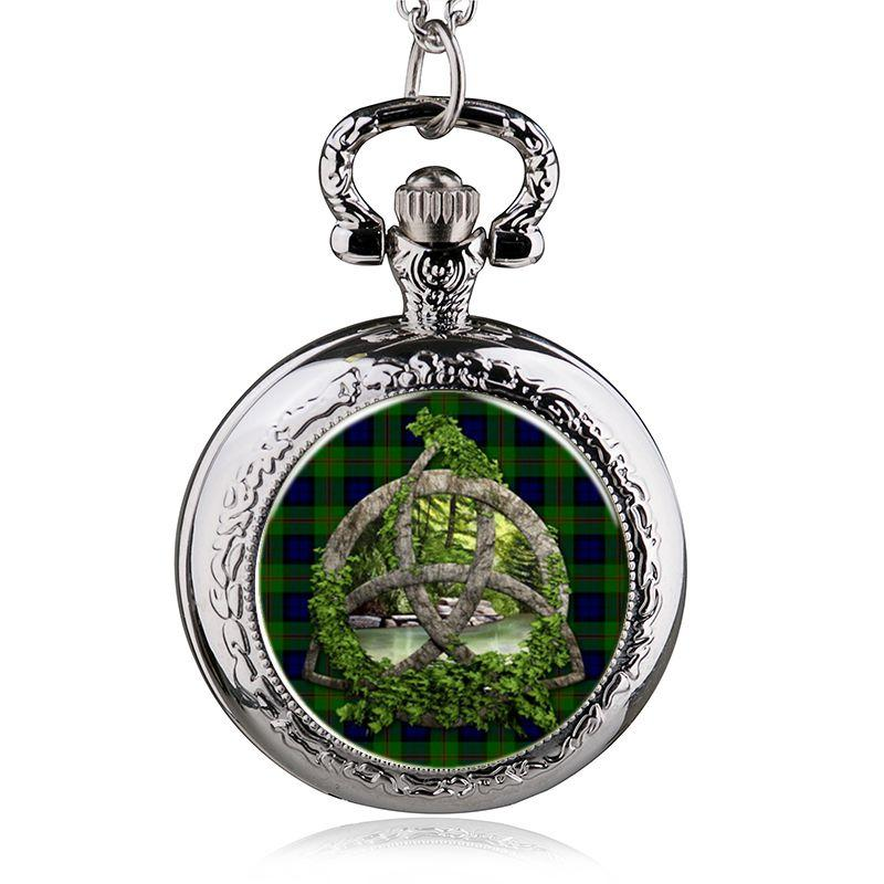 Antique Steampunk Copper Life Tree Pattern Necklace Pendant Pocket Watch Charms For Jewelry