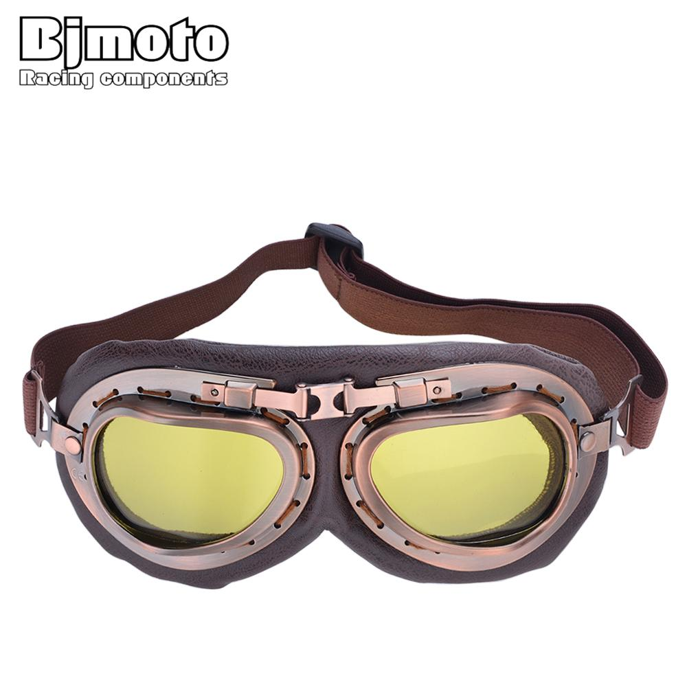 36867e7f3a79 BJMOTO Retro Motorcycle Goggles For Harley Motocross Helmet Glasses ...