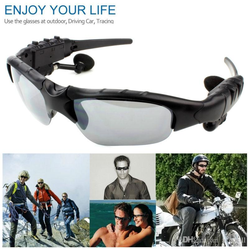 Sports Sunglasses Wireless Bluetooth Headset Earphone Bluetooth V4.1 Headphones Sun Glasses Polarized Driving MP3 Player Smart Phone