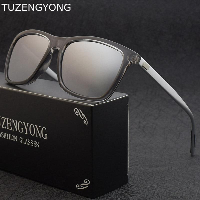 c7cffb317fe Classic Square Polarized Sunglasses Unisex Brand Designer Fashion ...