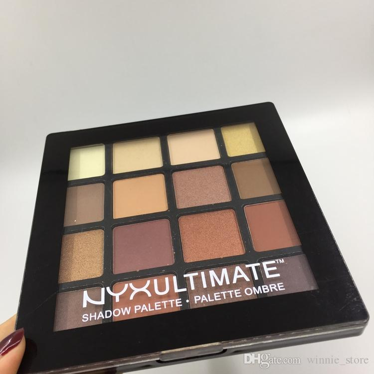 by ePacket NYX Ultimate Eyeshadow Ombre Palette Nude Shimmer Matte Eye shadow Makeup NYX Cosmetics palette
