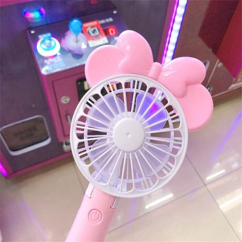 Mini Folding Tragbare Fan Cartoon Katze USB Wiederaufladbare Faltbare Handheld Sommer Luftkühler Lüfter Tragbare Fan Kinder Spielzeug 26 stücke