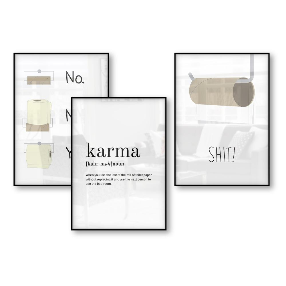2019 Funny Bathroom Poster Humor Art Posters And Prints Scandinavian