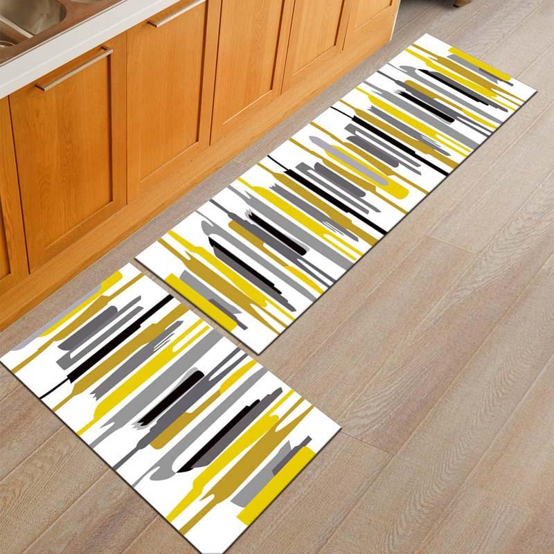 Acquista tappetini da bagno e tappeti tappetino da cucina antiscivolo set lavabile corridoio da - Set tappeti per bagno ...