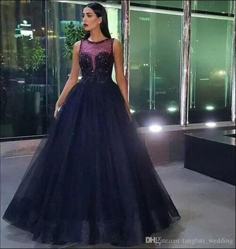bb535929b597c Black Evening Dresses Long Party Wear Dubai A Line Floor Length Women Party  Gowns Middle East Style Formal Dress Evening Prom Party Gowns Evening  Dresses ...