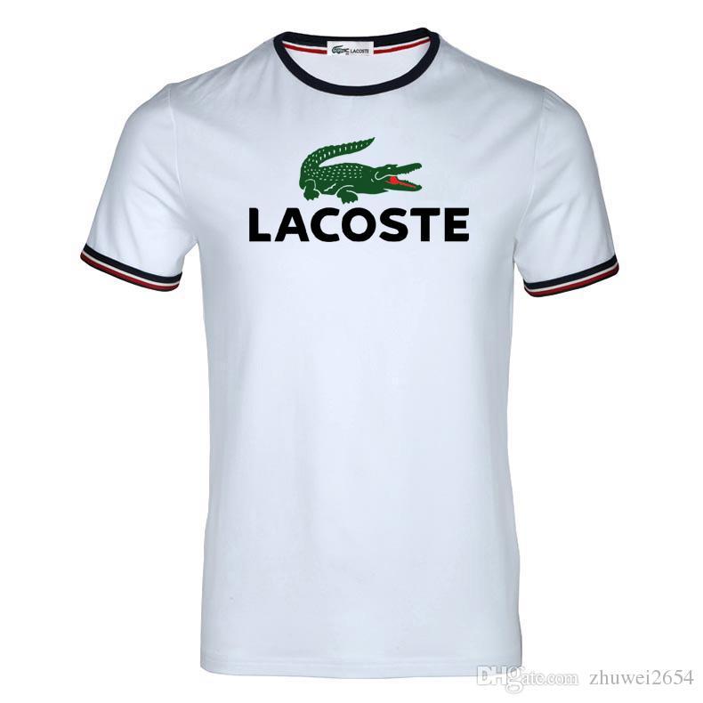 48201ad5c96 Compre Nova Marca De Moda Designer T Shirt Dos Homens T Camisa Casal ...