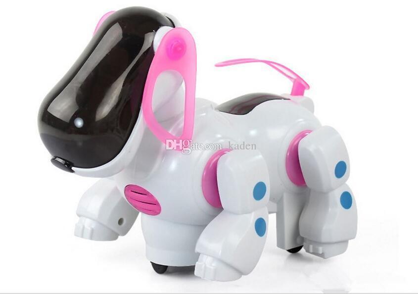 Sıcak satış Elektrikli köpek ışık ve müzik tekeri ile başını salladı ve kuyruk çocuk eğitici oyuncaklar toptan tedarik Ücretsiz Kargo