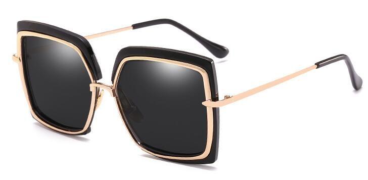 f2722cddc6 Sunglasses Woman 2018 New Metal Inner Circle Sunglasses Fashion Half ...
