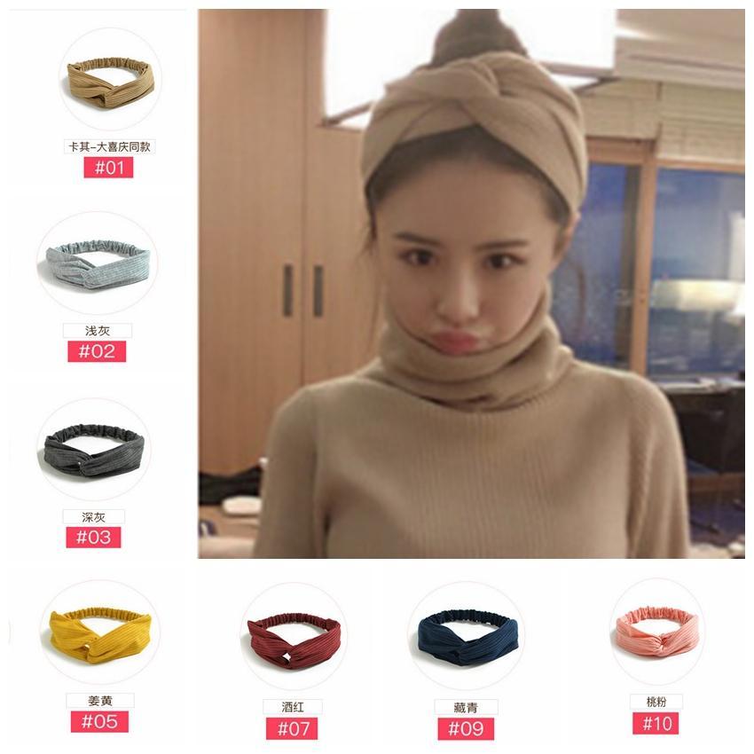 076de71b72c Wowsorie 2018 Women Cross Twist Headwear Headband Solid Color Yoga ...